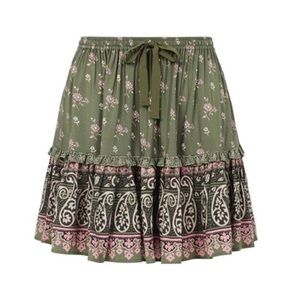 NWT Spell designs Olive Grove lionheart Mini skirt